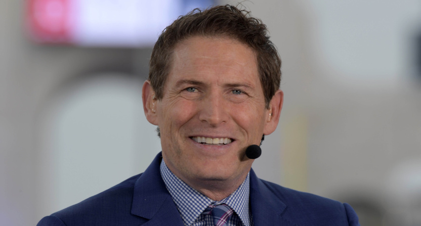 Steve Young on Monday Night Football in 2018.