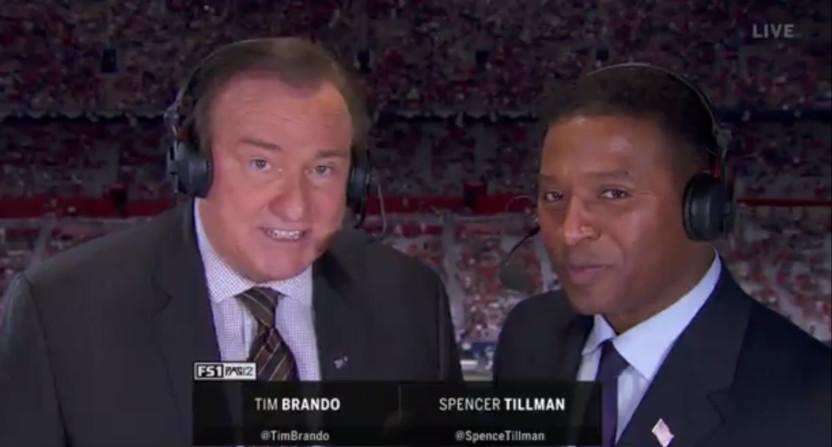 Spencer Tillman calling Arizona-Washington with Tim Brando.