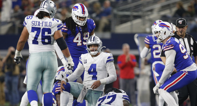 The Cowboys' loss to the Bills drew big ratings.