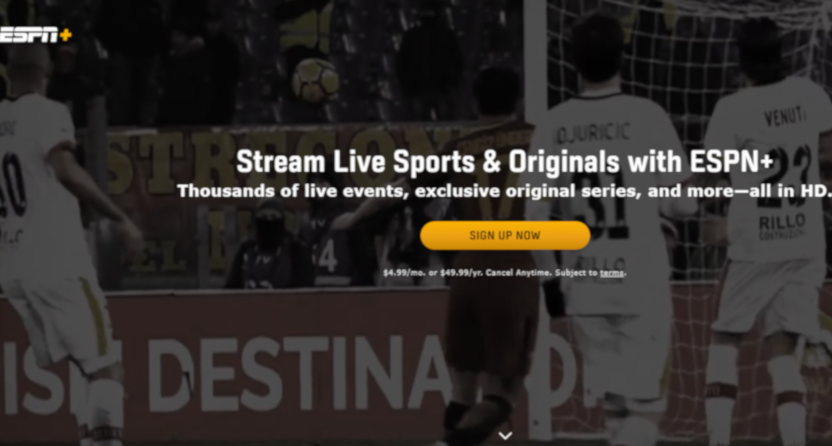 ESPN+ keeps adding subscribers.