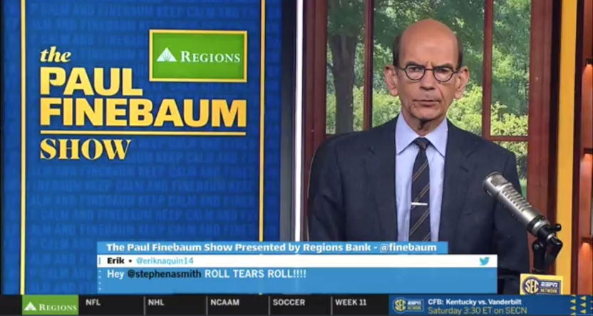 Paul Finebaum discussing Harvey Updyke Jr.