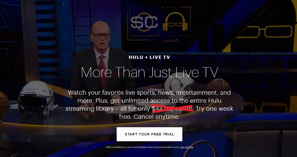 Hulu Live TV's price is being hiked by $10/month