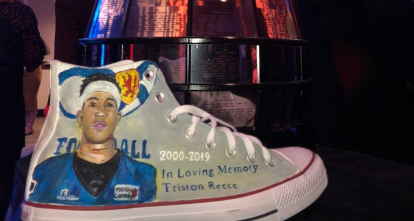Matthew Scianitti will wear custom Chuck Taylors honouring Triston Reece during TSN's broadcast of the 107th Grey Cup.