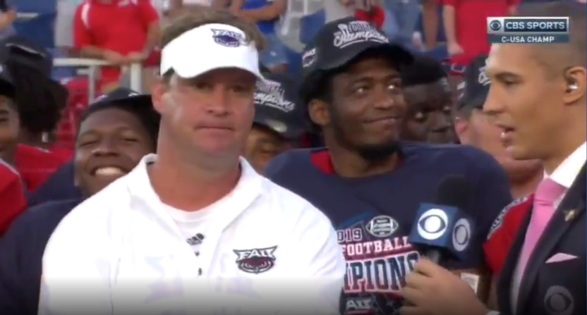 Lane Kiffin after beating UAB.