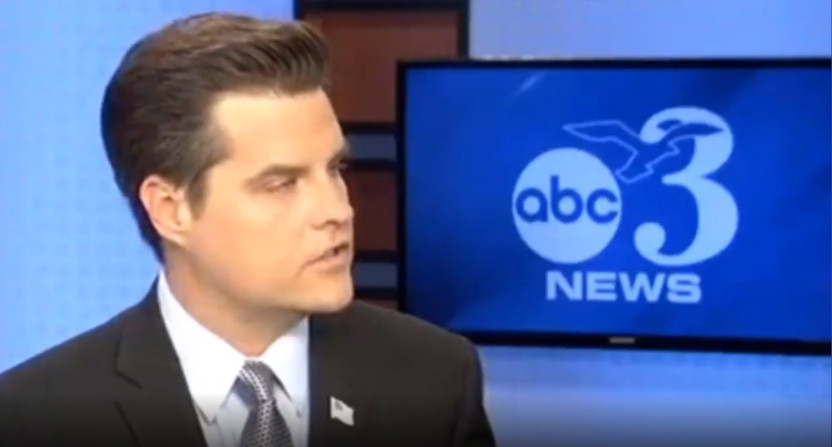 ABC affiliate WEAR broke into the AAC championship to air Republican congressman Matt Gaetz's comments on a Pensacola shooting.