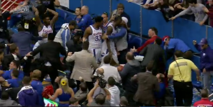 The Kansas-Kansas State brawl saw Dick Vitale weigh in in strong terms.