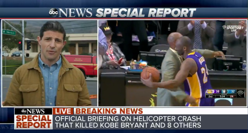 Matt Gutman reporting on the Kobe Bryant helicopter crash.
