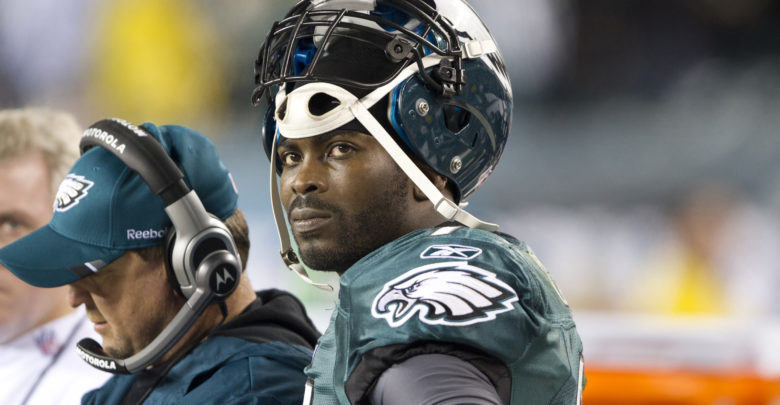 Michael Vick with the Eagles.