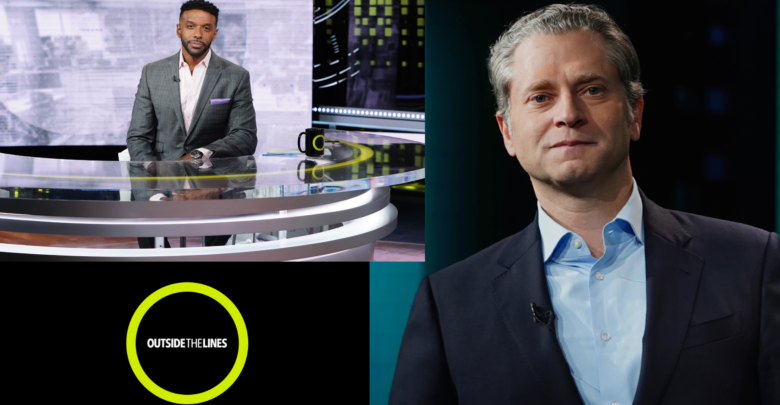 The new Outside The Lines will see daily segments mostly hosted by Ryan Smith (L) and a Jeremy Schaap-hosted weekend show on Saturdays.