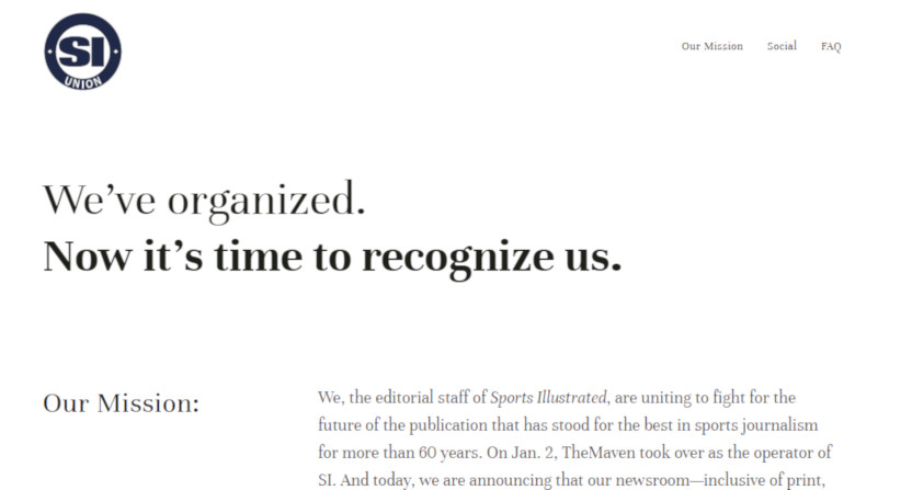 The SI Union page.