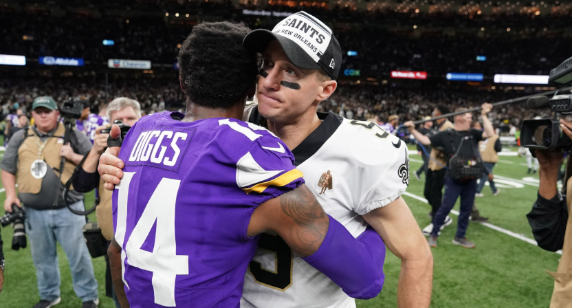 The Vikings and Saints drew a big year-over-year ratings jump for Fox.