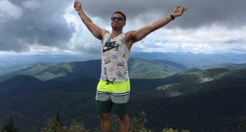 Edward Aschoff on a mountain.