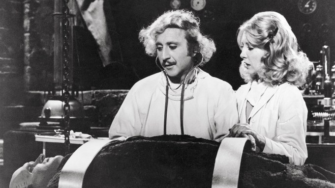 A Young Frankenstein table scene.