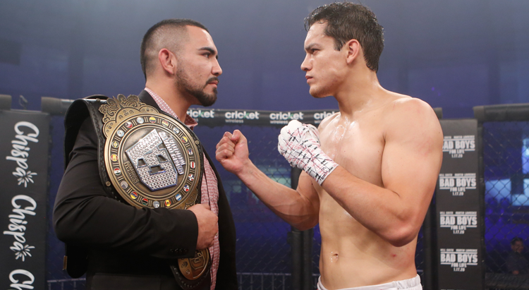"A Combate Americas event between Rafa ""Gifted"" Garcia (left) and Humberto Bandenay (right) drew big ratings."