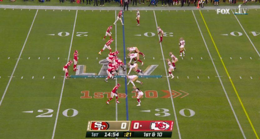 Fox's Super Bowl LIV scorebug.