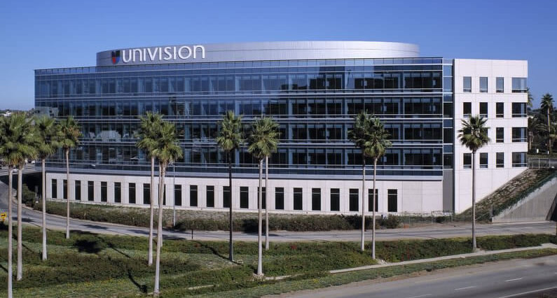 The Univision headquarters in Los Angeles.