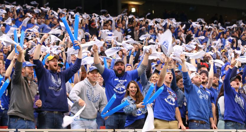 The XFL NY-STL game saw plenty of BattleHawks fans.