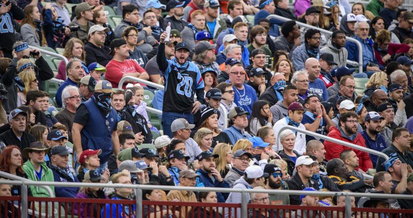 A XFL crowd shot from the opening weekend BattleHawks-Renegades game.