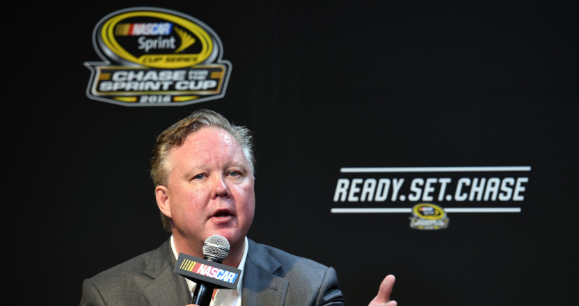 Brian France in 2016 at the Ford Ecoboost 400.