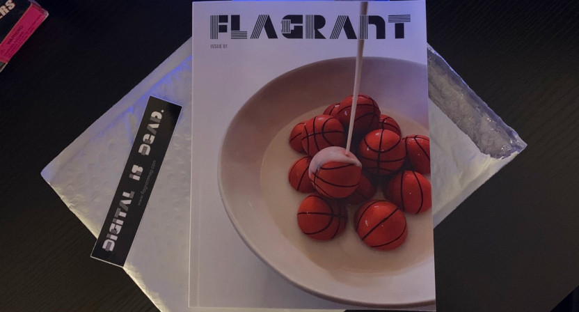 The first issue of Flagrant magazine.