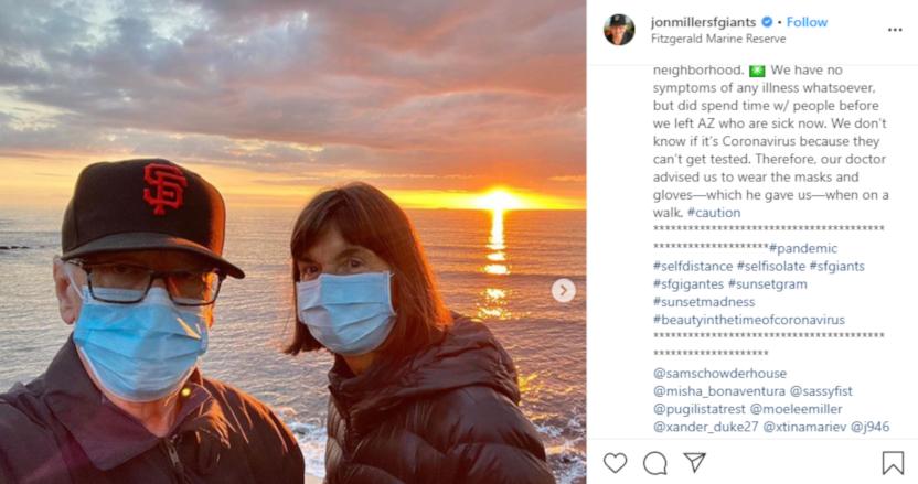 Jon Miller posted this sunset photo on Instagram.