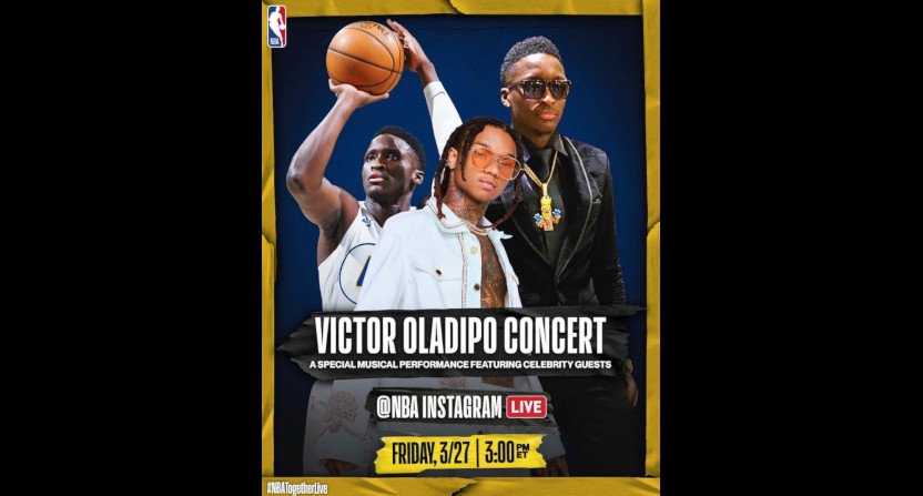 Victor Oladipo is doing a concert on the NBA Instagram.