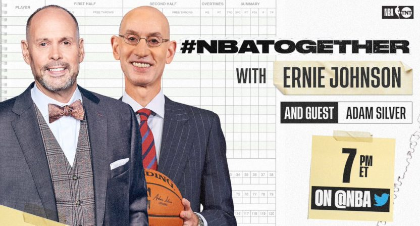 Ernie Johnson is hosting a new digital NBA talk show on Twitter on Mondays and Wednesdays.