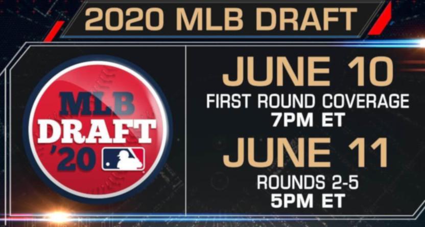 2020 MLB draft info.
