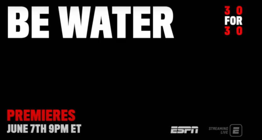 """Bruce Lee 30 for 30 """"Be Water"""" will premiere on ESPN on June 7."""