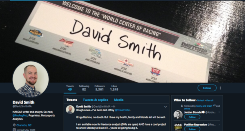 David Smith's Twitter background.