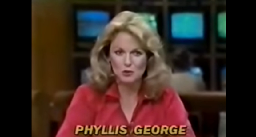 Phyllis George on The NFL Today in 1981.