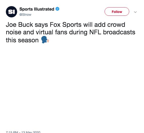SI tweet Joe Buck