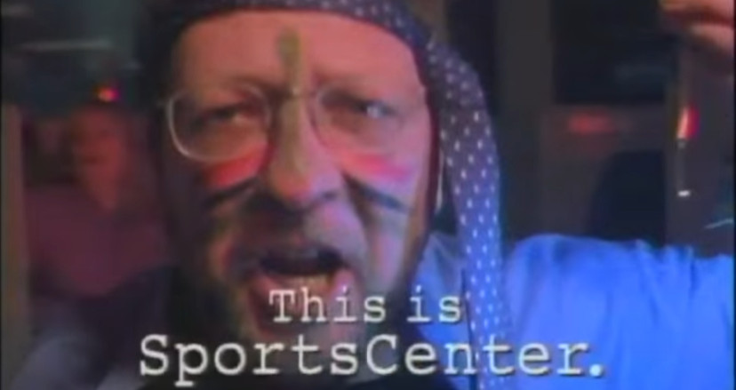 Charley Steiner on the Y2K SportsCenter ad.