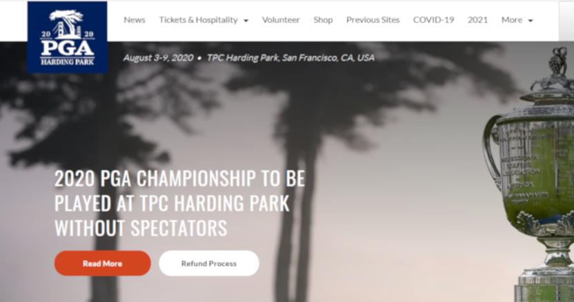 The 2020 PGA Championship website.