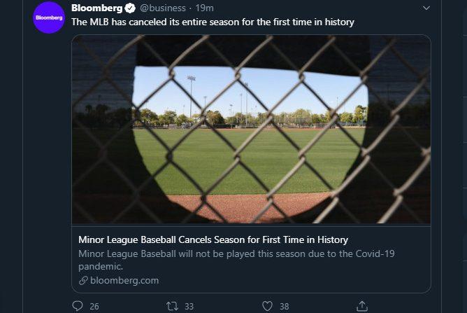 Bloomberg's MiLB/MLB tweet mixup.
