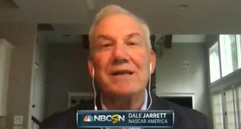 Dale Jarrett on NBCSN.
