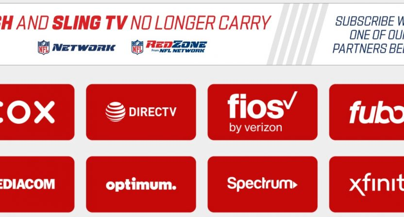 Nfl Network And Nfl Redzone Have Gone Dark On Dish And Sling