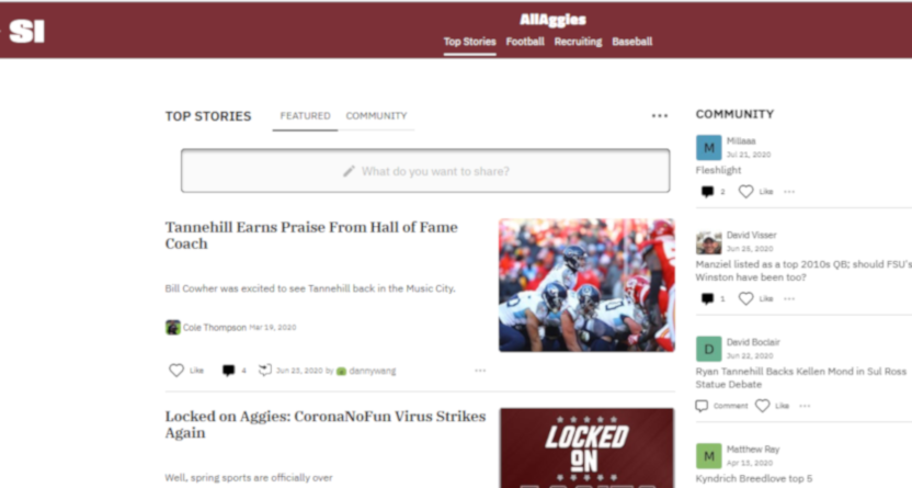 The SI/Maven All Aggies site.