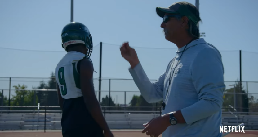 Last Chance U will focus on coach John Beam (R) and the Laney Eagles in Season 5.