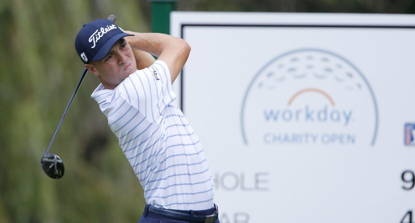 Justin Thomas at the Workday Charity Open.