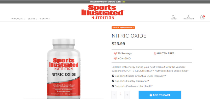Sports Illustrated Nitric Oxide.