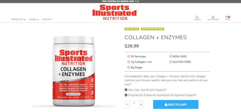 Sports Illustrated Collagen and Enzymes.