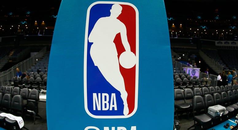 The NBA logo.