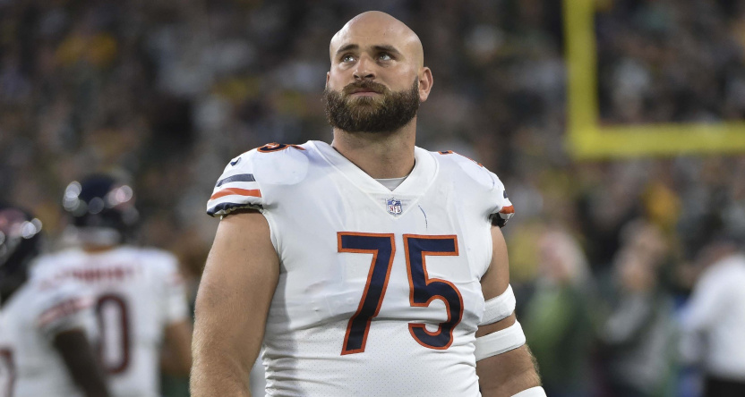 Kyle Long with the Bears in 2018.