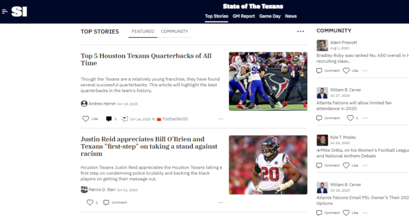 SI/Maven State of the Texans blog.