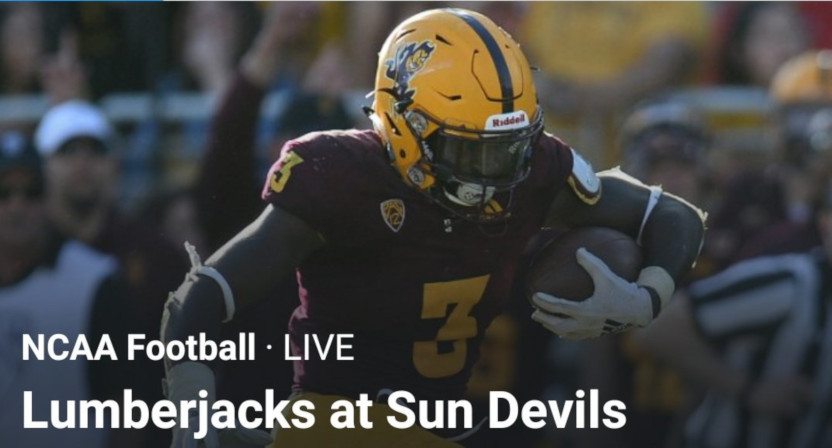 A Northern Arizona-Arizona State game Twitter said was happening Thursday is not, in fact, happening.