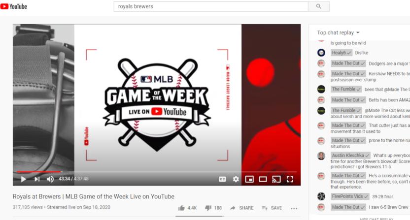 MLB on YouTube