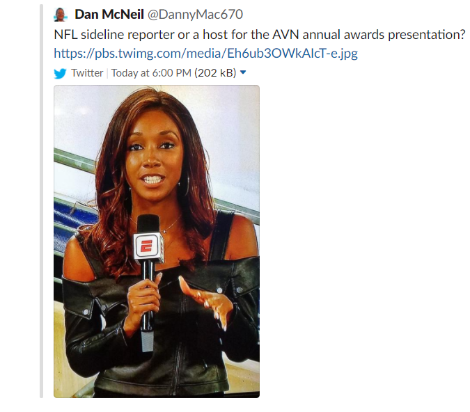 Chicago Radio Host Dan Mcneil Suggests Maria Taylor S Outfit Appropriate For Adult Film Awards Show Update He S Been Fired