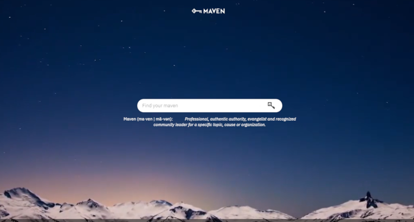 The Maven homepage.