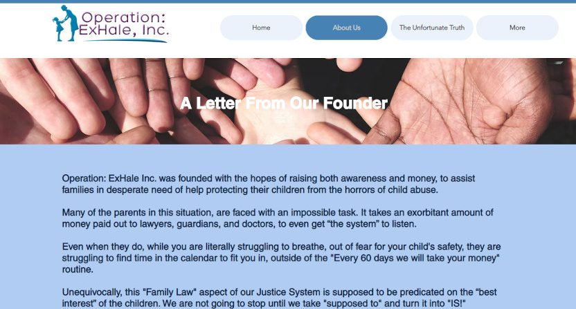 Casey Stern has founded Operation ExHale to help families protect children from abuse.